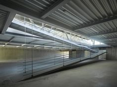 José María Sánchez García, Roland Halbe · Rowing Centre in Alange Architecture Awards, Architecture Office, Ramp Stairs, Ad Architectural Digest, Steel Trusses, Arch Interior, Remo, Building Systems, Parking
