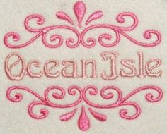 Splash Frame Embroidery Designs | Apex Embroidery Designs, Monogram Fonts & Alphabets