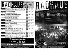 Radhaus-Programmheft Juni/Juli 2014 #radhaus #kleve #radhauskleve