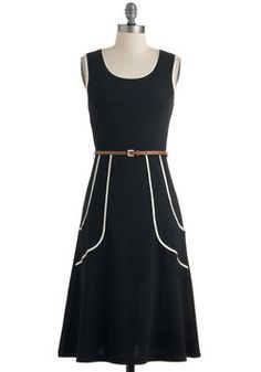 I would love to have this dress -- classic!  Outline of Work Dress in Black, #ModCloth