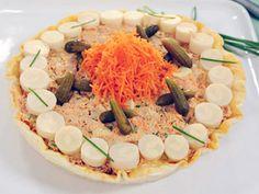 Tarta fría de atún y palmitos en microondas   Recetas Alicia Gallach  Utilisima.com