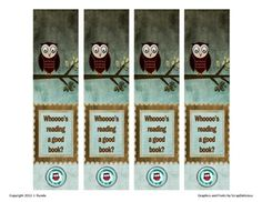 Bookmark - Whooo's reading a good book? (free)