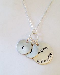 Hand Stamped Mom Necklace Mother's Day by UniquelyImprint on Etsy