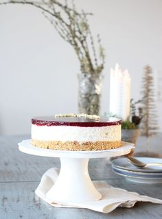 En risalamande cheesecake har længe stået på min to do, og nu er den endelig… Mousse, Sweet Pastries, My Dessert, Recipes From Heaven, Christmas Baking, Cake Cookies, Beautiful Cakes, Vanilla Cake, Eat Cake