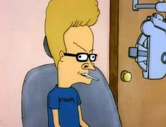 Beavis and Butthead Beavis has glasses