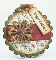 Christmas card/tag could up-cycle coasters