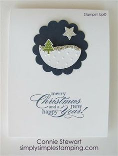 SIMPLY SIMPLE STAMPING with Connie Stewart: FLASH CARD - Glittery Snowbank - Video No. 16