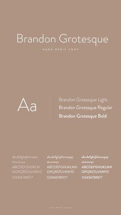 Brandon Grotesque Font – About Graphic Design Inspiration Typographie, Typography Inspiration, Graphic Design Inspiration, Design Fonte, Web Design, Typography Letters, Typography Logo, Letter Fonts, Herb Lubalin