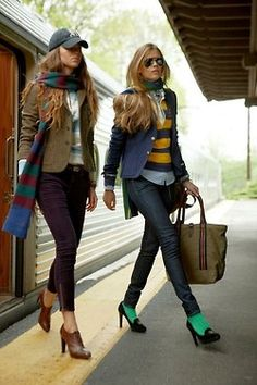 #IDIE love both of these looks!!!!! preppy with a great color combo