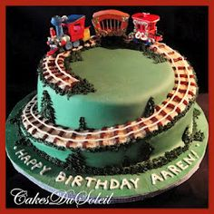 Cake With Train Design : 1000+ images about Train cake on Pinterest Train cakes ...