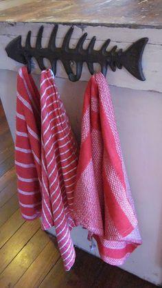 Fish coat rack...love this