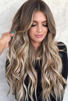 Brunette Hair With Highlights, Dark Blonde Hair Color, Balayage Hair Blonde, Brown Balayage, Brown Blonde Hair, Balayage With Highlights, Brunette With Blonde Balayage, Bronde Haircolor, Blonde Hair For Brunettes