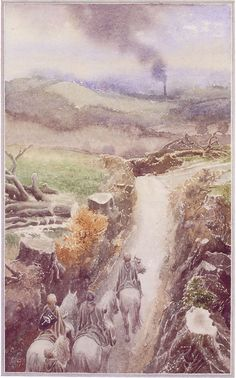 The Lord of the Rings - Alan Lee Art - The Scouring of the Shire (So I'm off to go cry....)