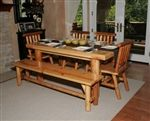 Kitchen #Table with 2 Chairs and 2 Benches http://www.allenbooth.com/Kitchen_Table_with_2_Chairs_and_2_Benches_p/cedar029.htm https://www.facebook.com/AllenBoothLLC