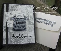 Stampin' Up!, DIY Crafts, handmade birthday cards, Tap Tap Tap, Typeset Specialty, Greetings Thinlets