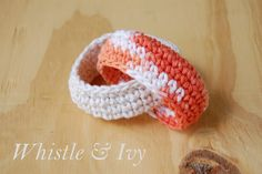 crochet teether rings baby toys