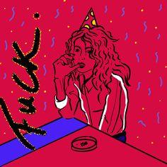 #illustration #party #partyhat #cigarette