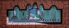 concept art for Sleeping Beauty by Eyvind Earle