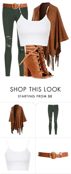 """Untitled #47"" by iamaddad on Polyvore featuring LE3NO, J Brand, Topshop, Frame Denim and Gianvito Rossi"