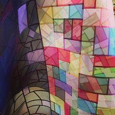 Wonderful sheers! Nobang patchwork 1m x 80cm @pojagist instagram