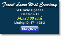 2 Grave Spaces for Sale - Forest Lawn West Cemetery - Charlotte, NC - The Cemetery Exchange