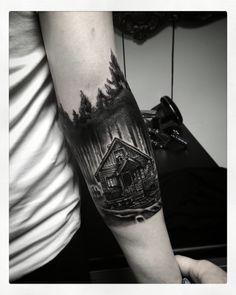 #tattoo #ink #cabininthewoods #forest #foresttattoo #malta #themadtattermalta