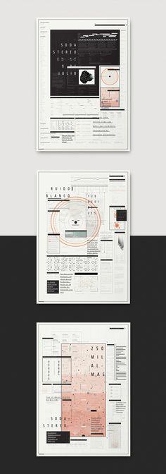 Esquemática: Pliegos cartográficos sobre el recital de Soda Stereo en la Av. 9 de Julio el 14 de diciembre de 1991.Tipografía II · Cátedra Longinotti · FADU UBA