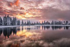 Taken at sunset at Rogla ski resort.