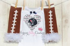 Houston Texans Heart Onesie w/ Leg/ArmWarmers - Houston Texans Onesie - Texans NFL Football - Photo Prop - Baby Girl Onesie - Heart Onesie on Etsy, $22.99