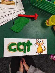 CVC playdoh mats http://ataleoftwokteachers.blogspot.com/2014/01/january-fun-and-freebie.html