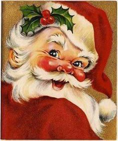 Vintage Greeting Card Christmas Santa Claus Jolly Face Head Flocked in Collectibles, Paper, Vintage Greeting Cards, Christmas Vintage Christmas Images, Old Fashioned Christmas, Christmas Scenes, Father Christmas, Retro Christmas, Santa Christmas, Vintage Holiday, Christmas Greetings, Xmas
