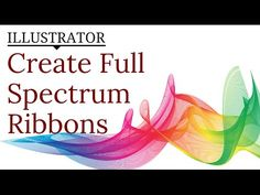 Create a Rainbow Ribbon Effect in Illustrator - Use Lines & Blends for Abstract Shapes - YouTube