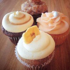 Kansas City Cupcake Co. -  Hummingbird cupcake, banana cake chock full of walnuts, coconut, pineapple, and sweet cream cheese frosting!