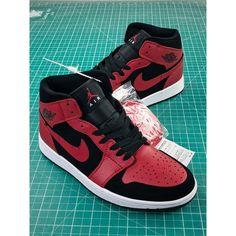 the best attitude 7e168 1afae New Colorway Bred Bull Color Air Jordan 1 Mid 8 Hole Mid Aj1 Joe 1 Mid  Jordan Sneakers