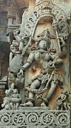 """Goddess Bhairavi."" Halebidu Temple. Hoysala Dynasty.  13th Century CE. Karnataka, India."