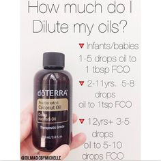 I have had several of you ask and wonder how much you need to be diluting and for what ages?? Well I made you all a quick reference chart! Obviously it is a good thing to have your own modern essentials book, but sometimes it gets confusing on how much an oil needs to be diluted! Like I have mentioned in previous posts, diluting doesn't take away from the effectiveness of the essential oil, it simply makes the oils being applied less sensitive on the skin. There are some oils that don't