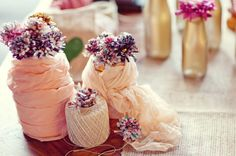 Yarn and Twine Centerpiece