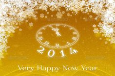 Very happy new year 2014 gold