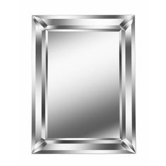 "Nolan 40-inch Rectangular Beveled Wall Mirror - 30""x 40"" - Overstock - 22082093 Silver Wall Mirror, Beveled Mirror Bathroom, Bath Mirrors, Home Decor Mirrors, Wall Decor, Floor Mirror, Mirror With Lights, Beveled Glass, Home Decor Outlet"