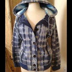 Free People Tie Dye Hoodie This warm cool looking hoodie with pockets is in great condition. So soft  and warm inside!80% Cotton 20% Polyester, Pocketing- 100% Cotton Trim- 100% lambswool. Free People Jackets & Coats
