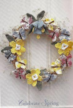 @Lissa Simpkins,  crocheted fun Spring wreath...