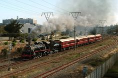 Cape Town - Monument Station: Atlantic Rail's operation of SAR 24 (in steam) South African Railways, Old Trains, Steam Locomotive, African History, Train Station, Old Pictures, Cape Town, Castle, Steam Engine