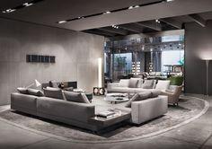 White seating system, Rodolfo Dordoni Design