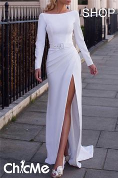 Prom Dresses Elegant, Sheath Off Shoulder white prom dress with side slit, Mermaid prom dresses, two piece prom gowns, sequin prom dresses & you name it - our 2020 prom collection has everything you need! Dresses Elegant, Girls Formal Dresses, Sexy Dresses, Fashion Dresses, Prom Dresses, Dresses For Work, Summer Dresses, Wedding Dresses, Pretty Dresses