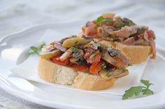 Leichte Pilz-Crostini