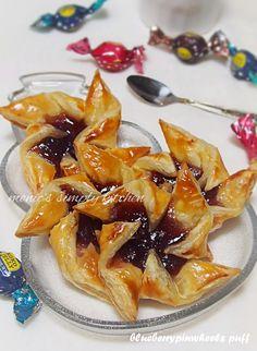 blueberry pinwheel puff resep