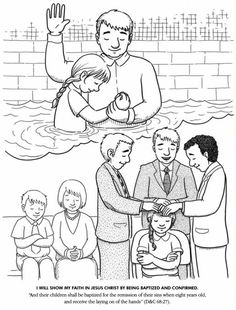 LDS Games - Color Time - I Will Show My Faith in Jesus Christ by Being Baptized and Confirmed