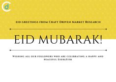 Eid Mubarak to everyone celebrating around the world be blessed with another year filled with happiness, peace, and good health with success and achievements, from all of us here at Craft Driven.