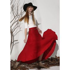 xiaolizi Red Skirt Maxi Skirt Linen Skirt Women Skirt (1154) (310 ILS) ❤ liked on Polyvore featuring skirts, black, women's clothing, floor length maxi skirt, ankle length skirts, long black skirt, linen maxi skirt and long red maxi skirt