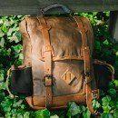 Dakota Vintage Commuter Backpack - Waxed Canvas & Leather